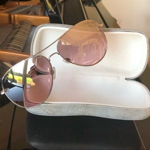 Like new pink CHANEL aviators